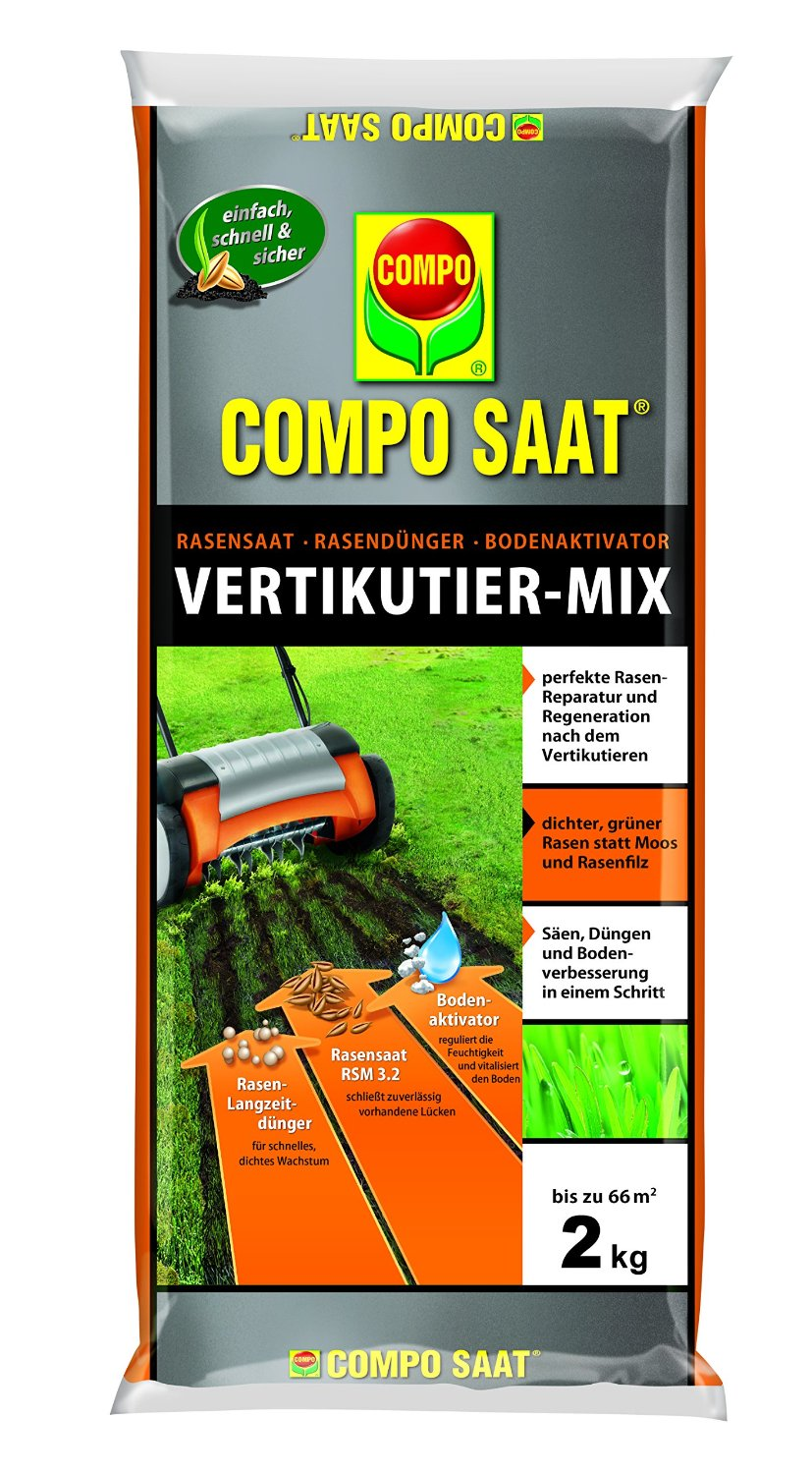 Photo of Compo Rasenpflege Saat-Vertikutier-Mix Test