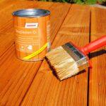 Terrassen Öl auftragen - Terrasse länger geniessen.