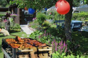 Gartenparty auch bei kühleren Temperaturen