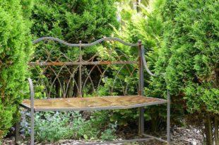 Gartenbank Metall - modern oder antik als 2 und 3 Sitzer