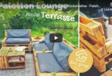 DIY Gartenmöbel: Stylische Palettenmöbel - Anleitung zum selber bauen