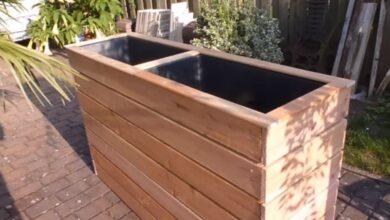 Bild von DIY: Hochbeet als Windschutz oder Sichtschutz für Terrasse und Garten