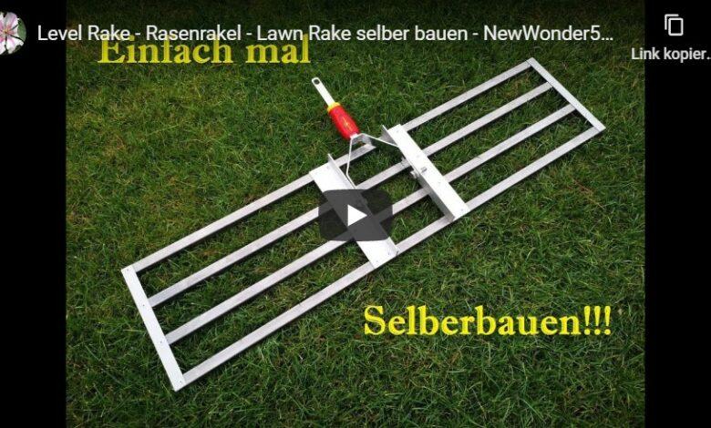 Bild von DIY: Rasenrakel selber bauen – Gartenarbeit erleichtern