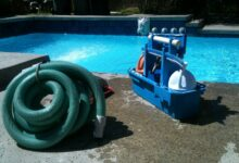 Bild von Pool-Reinigung: Schritte und Ausstattung