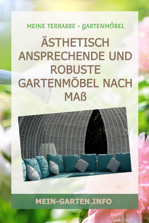 Ästhetisch ansprechende und robuste Gartenmöbel nach Maß
