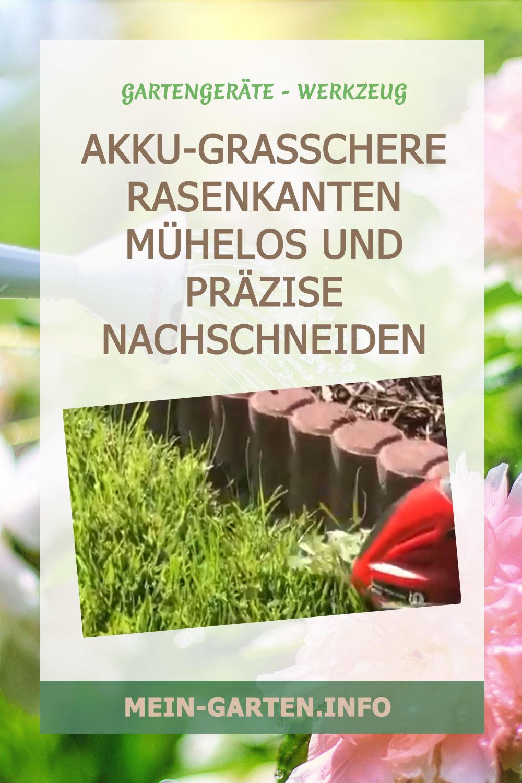 Akku-Grasschere Rasenkanten mühelos und präzise nachschneiden
