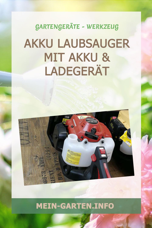 Akku Laubsauger – mit Akku und Ladegerät