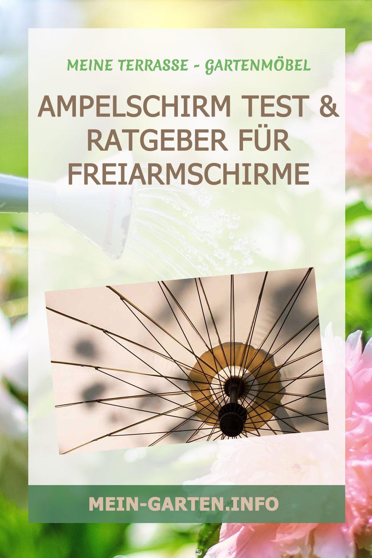 Ampelschirm Test & Ratgeber für Freiarmschirme