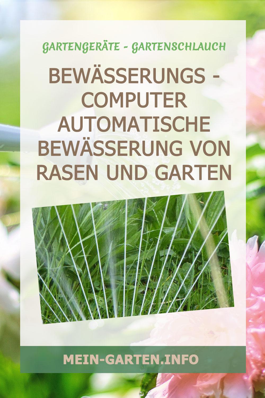 Bewässerungs - computer Automatische Bewässerung von Rasen und Garten