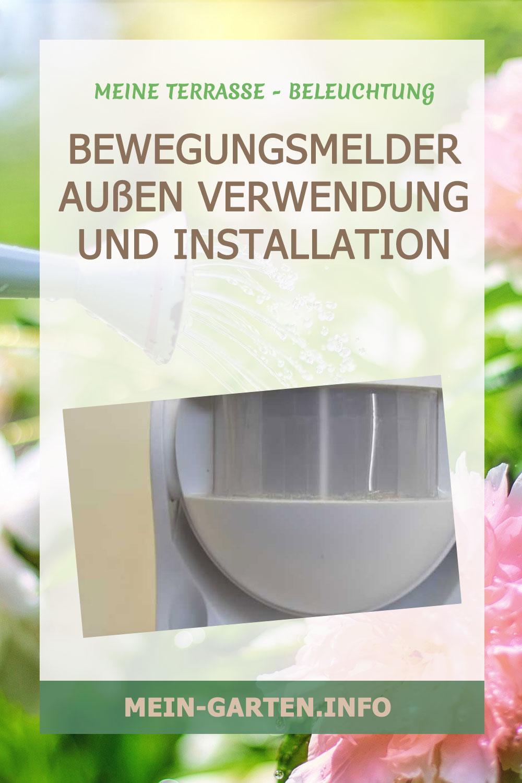 Bewegungsmelder außen Verwendung und Installation