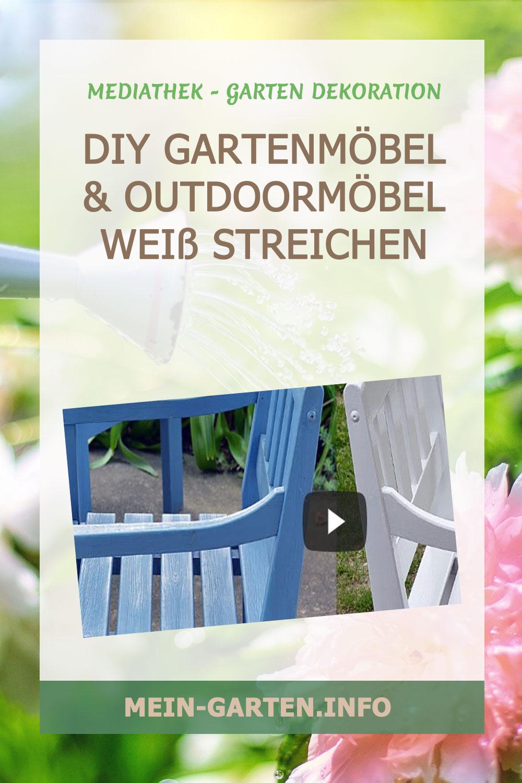 DIY Gartenmöbel         & Outdoormöbel Weiß streichen