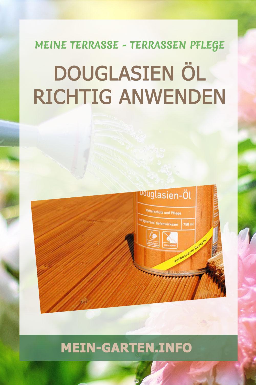 Douglasien Öl – Holzterrassen erstrahlen wieder im edlen Glanz