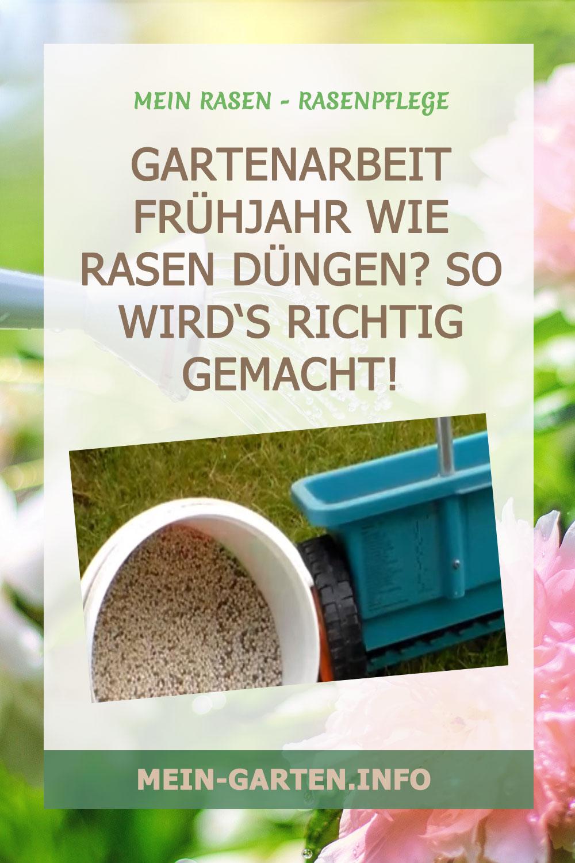 Gartenarbeit Frühjahr: Wie Rasen düngen? So wirds richtig