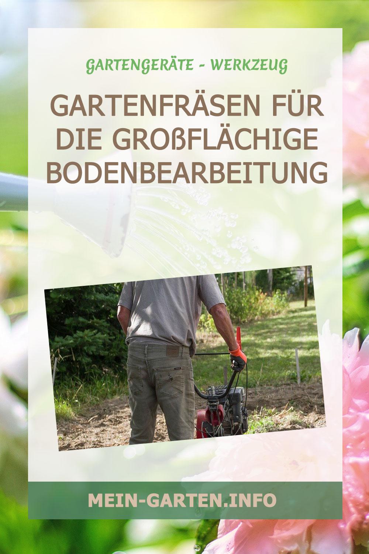 Gartenfräsen für die großflächige Bodenbearbeitung