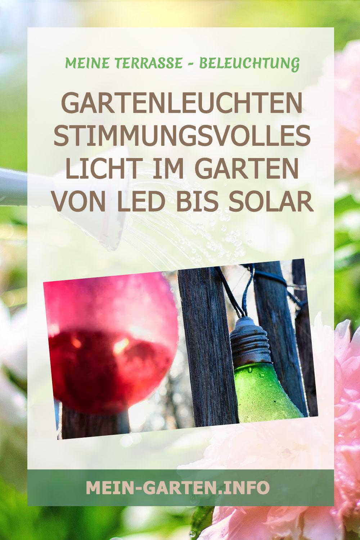 Gartenleuchten Stimmungsvolles Licht im Garten von LED bis Solar