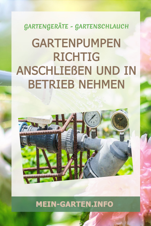 Gartenpumpen richtig anschließen und in Betrieb nehmen