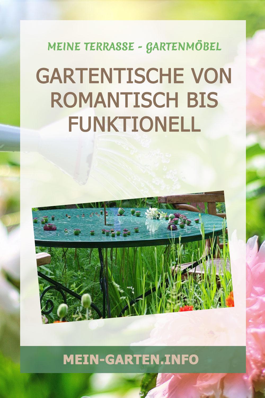 Gartentische Von romantisch bis funktionell