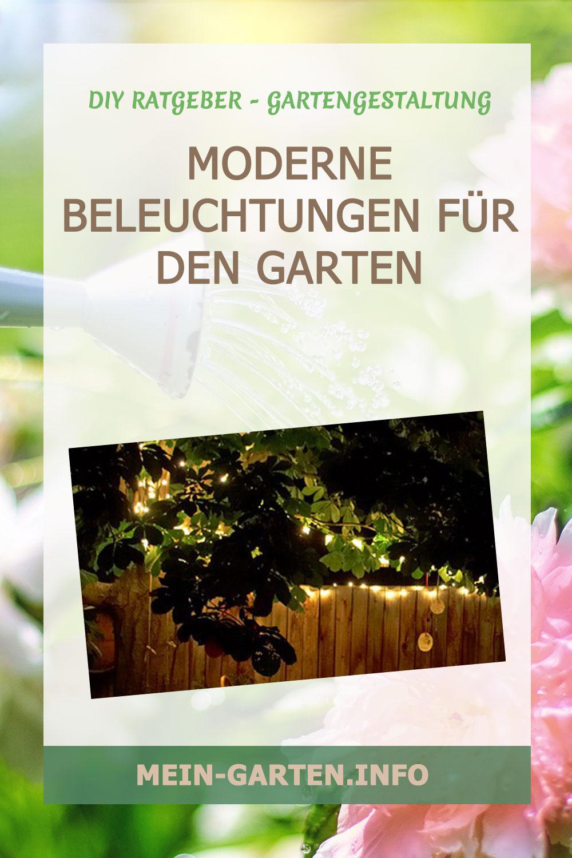 Moderne Beleuchtungen für den Garten