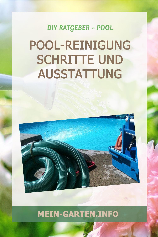 Pool-Reinigung Schritte und Ausstattung