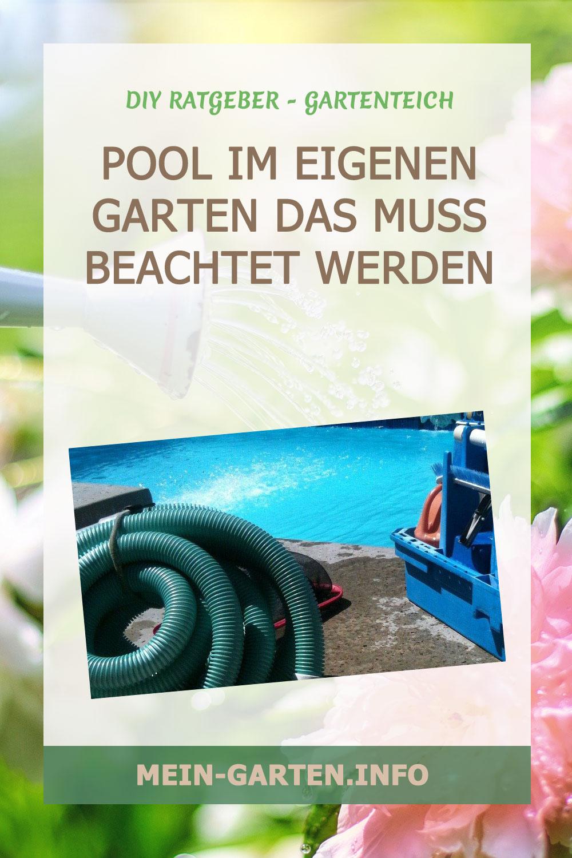 Pool im eigenen Garten – Das muss beachtet werden.