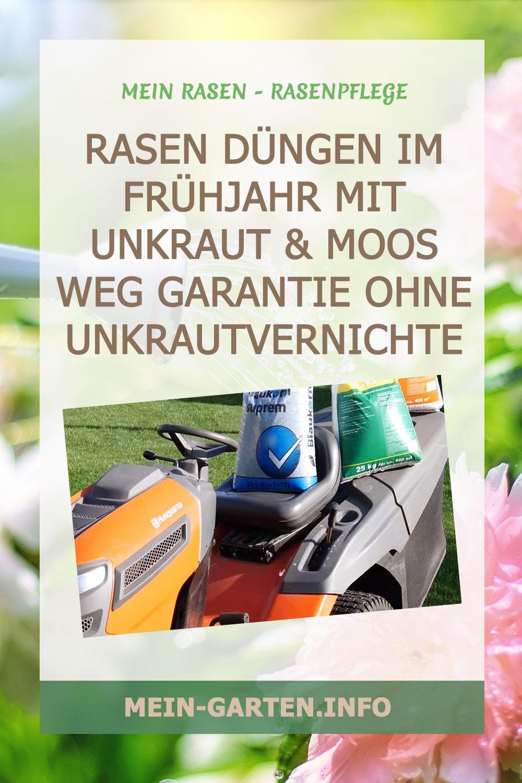 Rasen düngen im Frühjahr Mit Unkraut & Moos weg Garantie ohne Unkrautvernichter