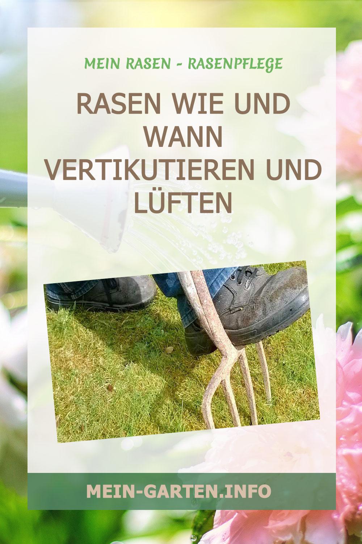 Rasen vertikutieren für eine gepflegte gleichmäßige Grünfläche