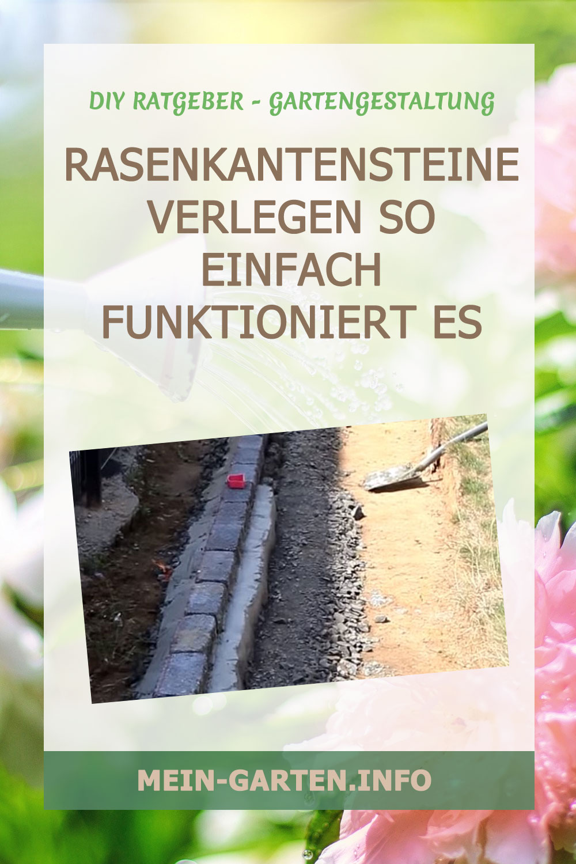 Rasenkantensteine verlegen – So einfach geht es