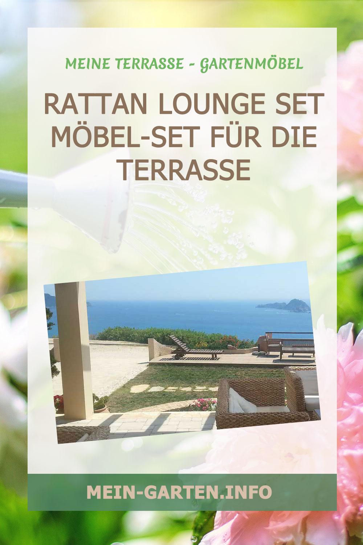 Rattan Lounge Set Möbel-Set für die Terrasse