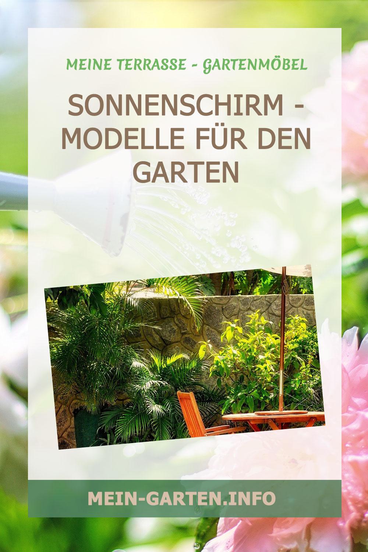 Sonnenschirm - modelle für den Garten