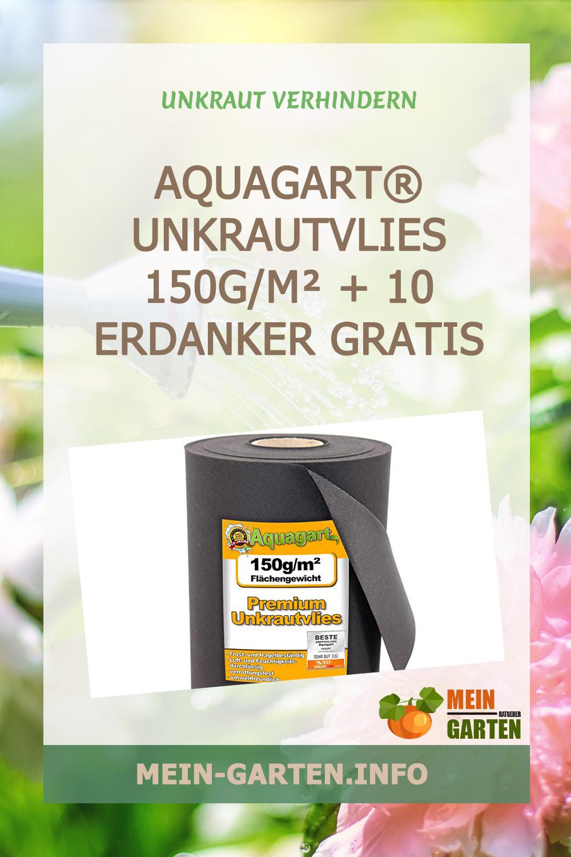Aquagart® Unkrautvlies 150g/m² + 10 Erdanker Gratis günstig kaufen