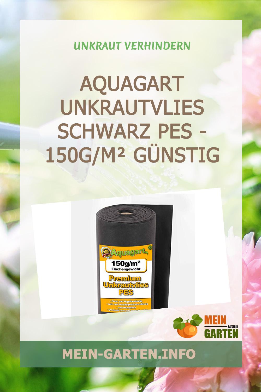 Aquagart Unkrautvlies schwarz PES – 150g/m² günstig kaufen