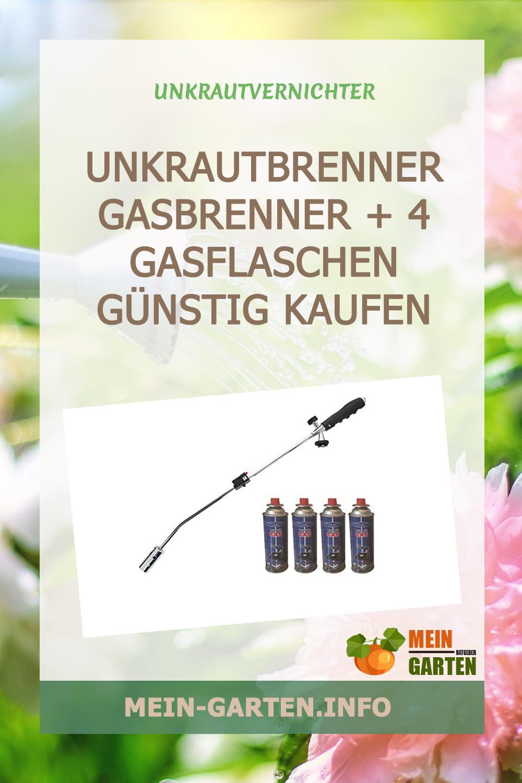 Unkrautbrenner Gasbrenner + 4 Gasflaschen günstig kaufen