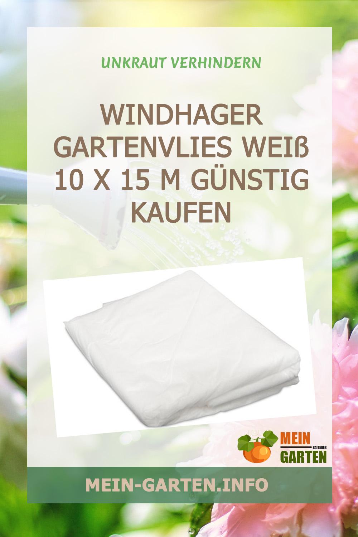 Windhager Gartenvlies Weiß 10 x 15 m günstig kaufen
