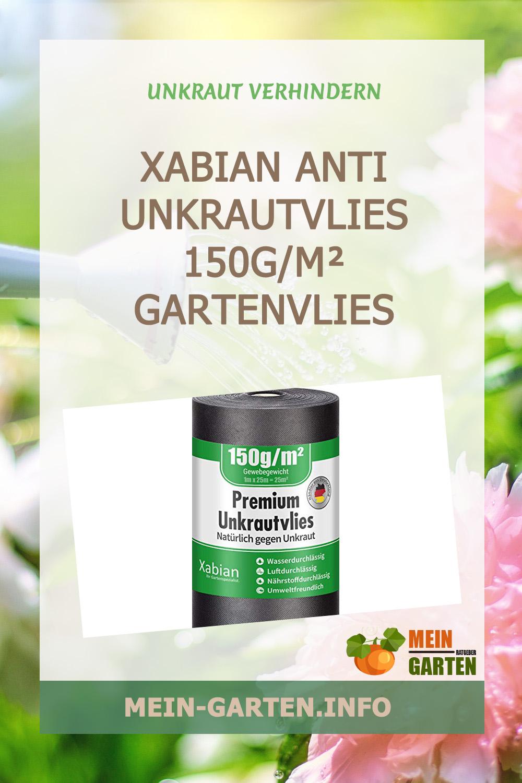 Xabian Anti Unkrautvlies 150g/m² Gartenvlies schwarz günstig kaufen