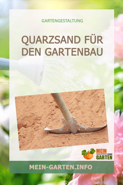 Quarzsand für den Gartenbau