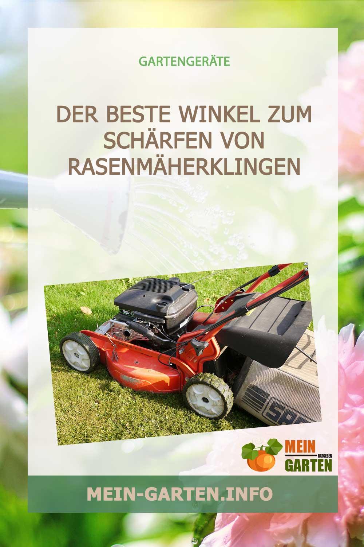Der beste Winkel zum Schärfen von Rasenmäherklingen