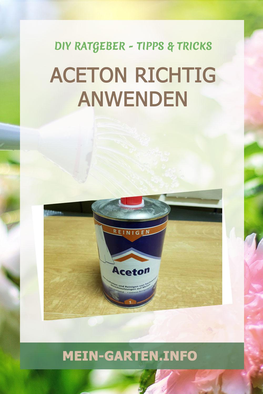 Aceton richtig anwenden