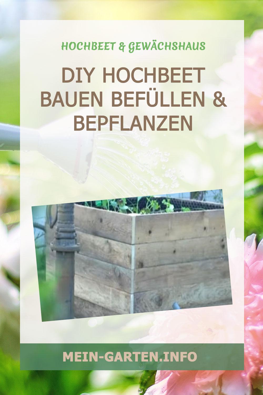 DIY Hochbeet bauen befüllen & bepflanzen