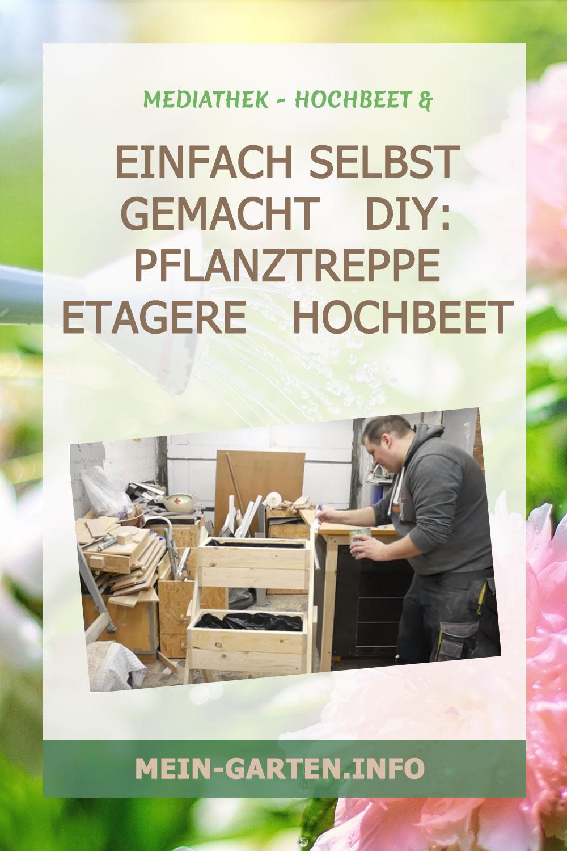 Einfach selbst gemacht   DIY: Pflanztreppe   Etagere   Hochbeet