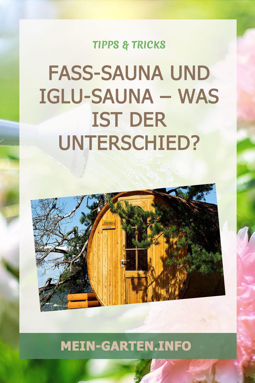 Fass-Sauna und Iglu-Sauna – Was ist der Unterschied?