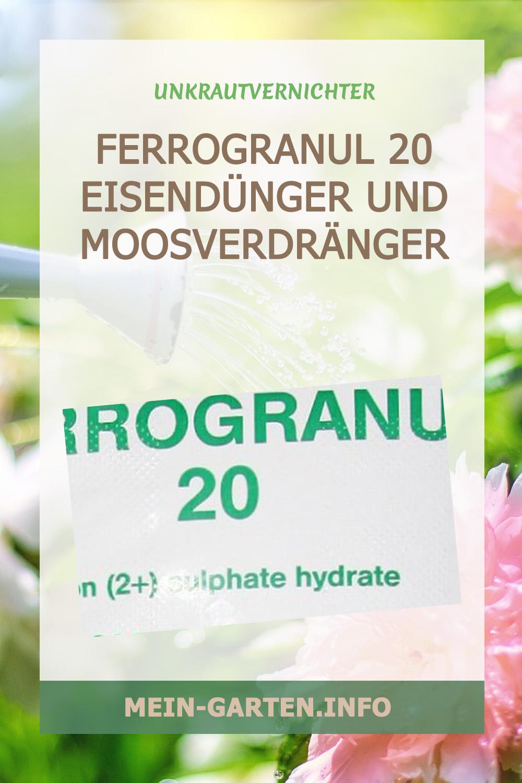 Ferrogranul 20 Eisendünger und Moosverdränger