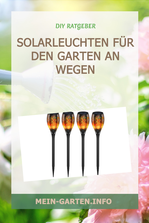 Solarleuchten für den Garten an Wegen