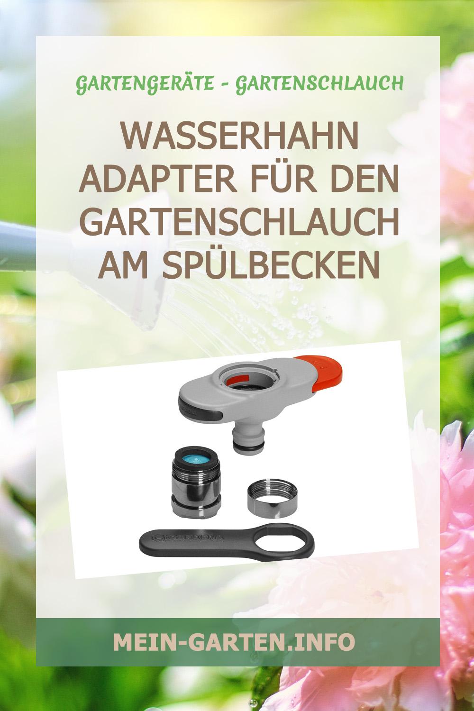 Wasserhahn Adapter für den Gartenschlauch am Spülbecken