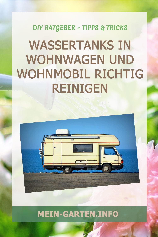 Wassertanks in Wohnwagen und Wohnmobil richtig reinigen