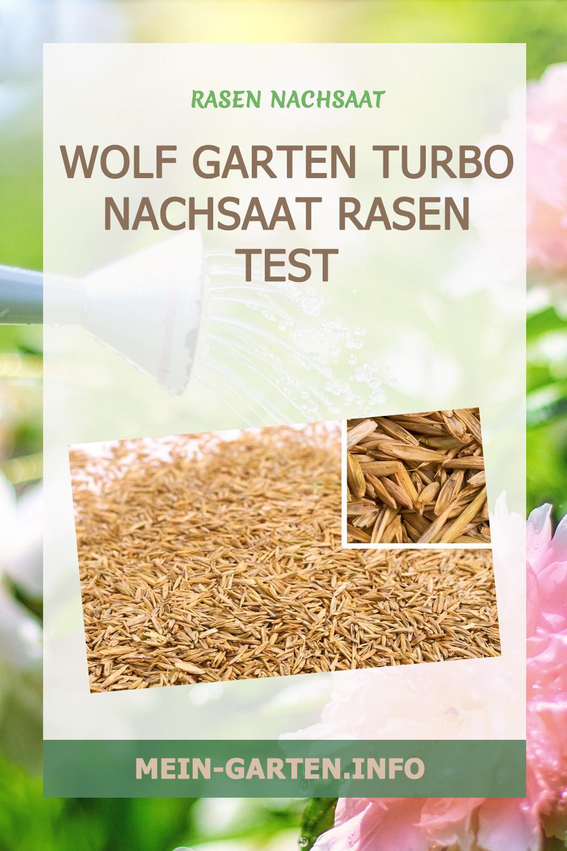 Wolf Garten Turbo Nachsaat Rasen Test