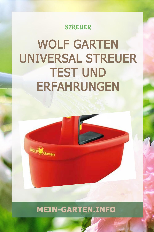 Wolf Garten Universal Streuer Test und Erfahrungen